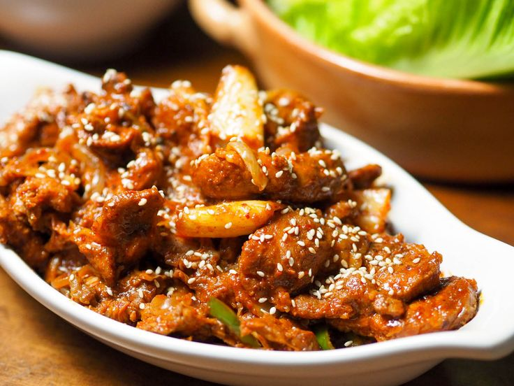 ... Chili Marinade and Kimchi (Jaeyook Kimchi Bokum) | Kimchi, Pork and