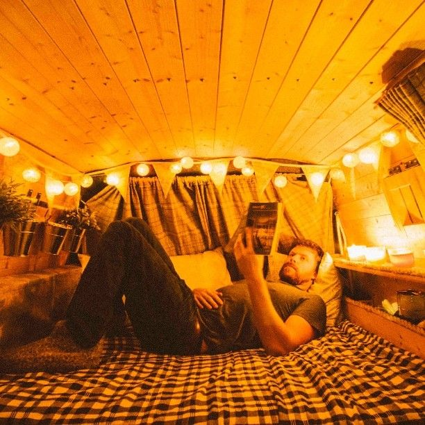 Night time read. #Vanlife #Vanlifeexplorers #Vanlifediaries #Projectvanlife #vanlifeuk #Vanlifeeurope #Campervan #Camper #Vanconversion #Toyota #Hiace #Camping #Wildcamping #backpackersbible #Campingcollective #1000contemporarynomads #Devon #Roadtrip #Tinyhome #Tinyhouse #Tinyhousemovement #Quietnightin by upoverthemountains