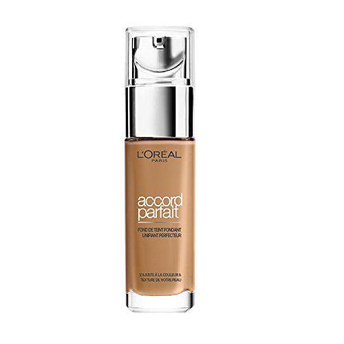 L'Oréal Paris Make Up Designer – Accord Parfait Fond de Teint Fluide Unifiant Caramel Doré (6,5.D) 30ml: Fond de Teint Fondant Unifiant…