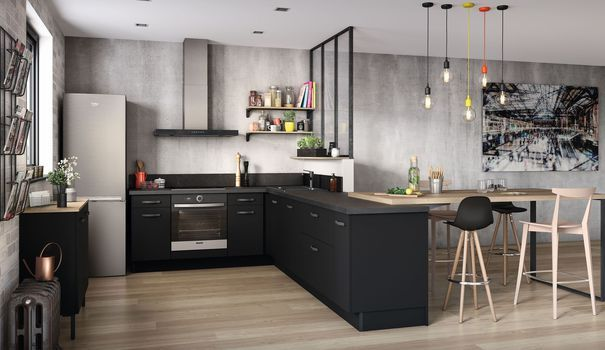 Cuisine ouverte  15 modèles de cuisiniste Kitchen Kitchen, Open - Modele De Cuisine Moderne Avec Ilot