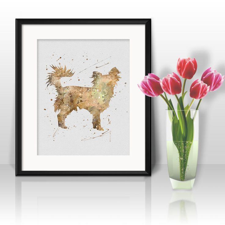 Dog Chihuahua watercolor art prints, posters, wall paintings, home decor, art