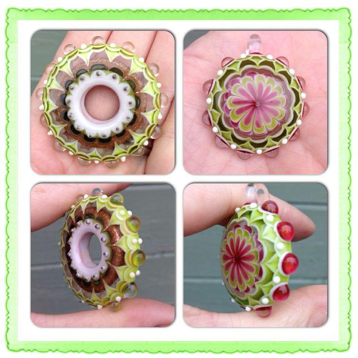 Discs and kaleidoscope pendant
