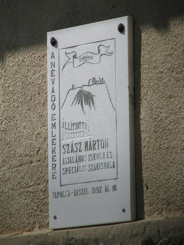 Szász Márton emléktábla (Tapolca) http://www.turabazis.hu/latnivalok_ismerteto_5171 #latnivalo #tapolca #turabazis #hungary #magyarorszag #travel #tura #turista #kirandulas