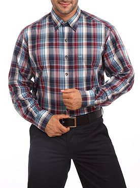 This regular fit shirt from Color Plus is a perfect blend of fashion and comfort. This dark blue colored formal shirt looks absolutely professional yet stylish. You can wear it along with formal trousers or a pair of casual jeans. This full sleeve shirt has a checkered pattern design on it which makes it look trendy. The superior quality materials used in making the shirt provides a higher level of comfort to the wearer. It has been designed to fit most body types. It will not only add charm…