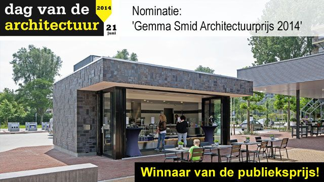 R4a wins the Gemma Smid Public Architecture Prize for their VISPAVILJOEN A.TOET TRAITEUR design in Zoetermeer, NL   for more information www.r4a.nl   Photo by Fas Keuzenkamp #brick #masonry #architecture #kiosk