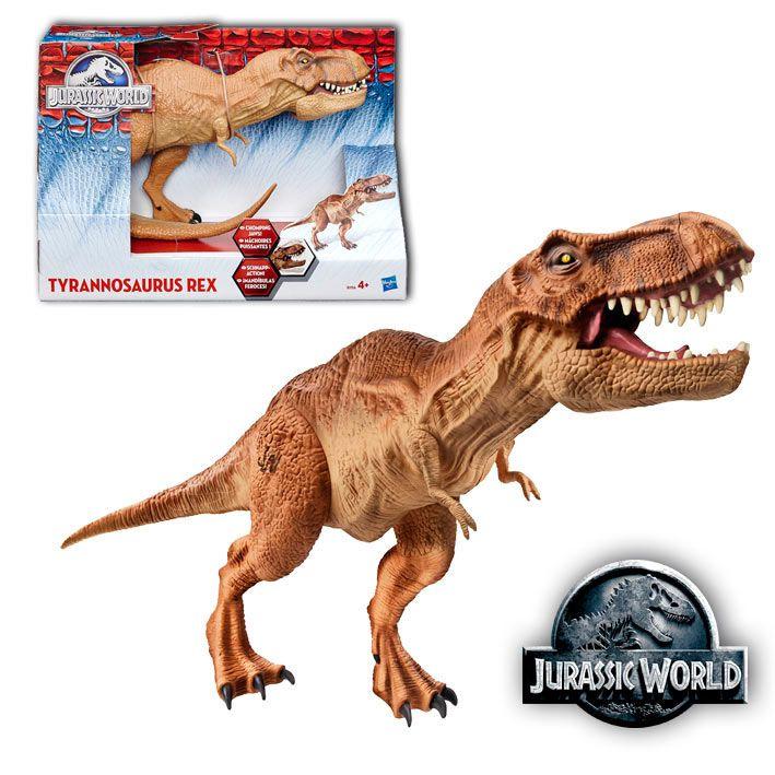 Figura Tyrannosaurus Rex, Jurassic World 2015, con luz y sonido 45cm, Hasbro Figura de 45cm con luz y sonido del dinosaurio Tyrannosaurus Rex, uno de los protagonista de la última entrega de la saga Jurassic Park.