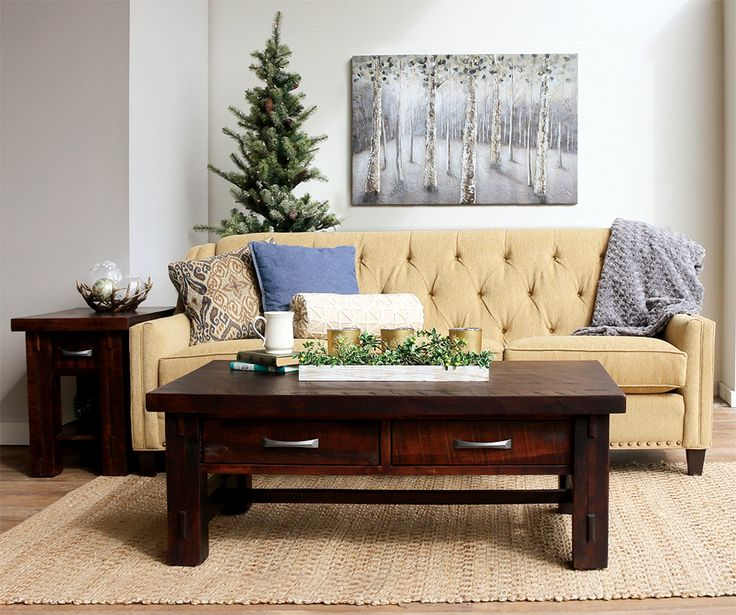 The Rough Sawn Wood Of Our Timber Collection Feels Extra Cozy During The  Holiday Season. Oak StainSofa TablesCoffee ...