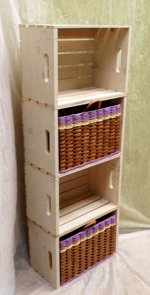 Lg.Crate basket--This unit can me made so easily with some nails and paint. Our baskets add a charming, elegant touch. Order your color today!