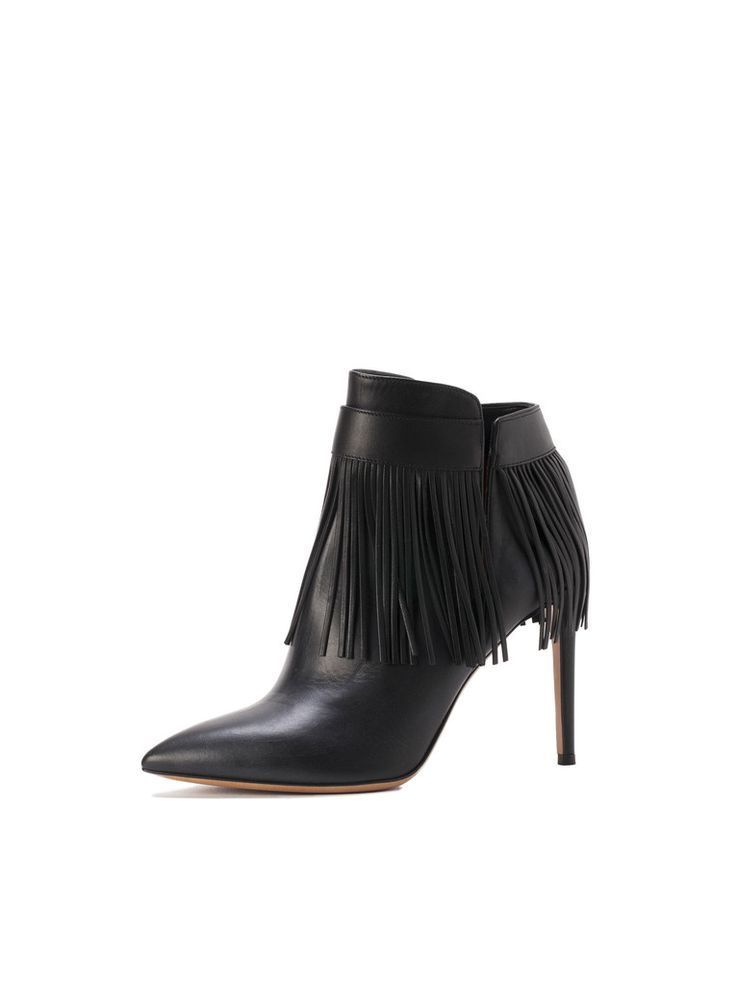 Obsessed with these fringed, leather Valentino booties from amuze.com! So beautiful and such an affordable price.