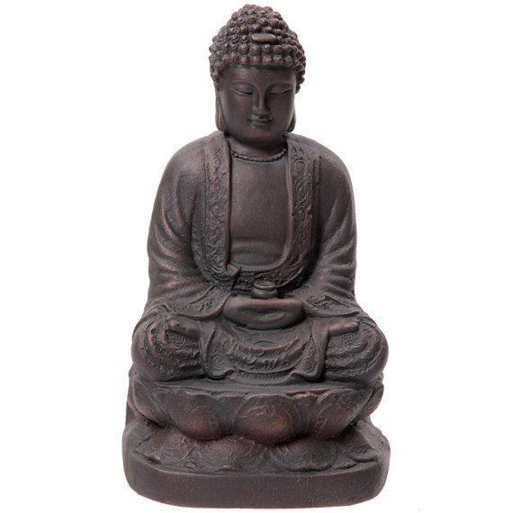 Large Garden Ornament Bronze Effect Buddha Statue by getgiftideas