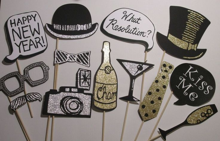 New Years Eve party photo booth props