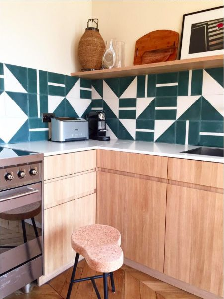 Another beautiful Hauvette-Madani project with popham design handmade contemporary BRASILIA tiles
