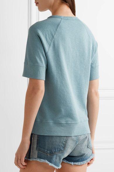 James Perse - Supima Cotton-terry Sweatshirt - Light blue - 1