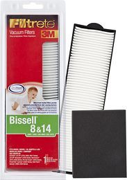 3M - Filtrete 8 & 14 Filter for Select BISSELL Vacuums - White/Black, 66838A
