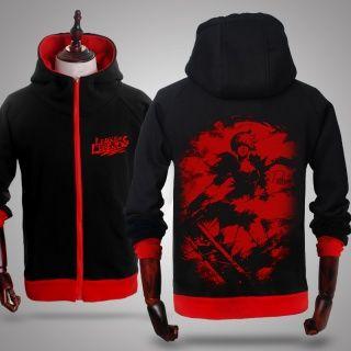 Riven hoodie for men LOL League of Legends black zip up hoodies