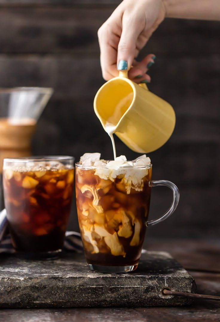 Spiked Thai Iced Coffee! Such a refreshing, flavorful, and easy iced coffee recipe. A splash of Amaretto takes it over the top! Both cocktail and mocktail versions!