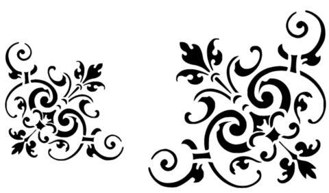 Victorian Corner Stencil