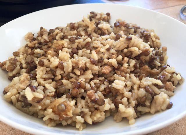 Riz aux lentilles et soja au Rice Cooker