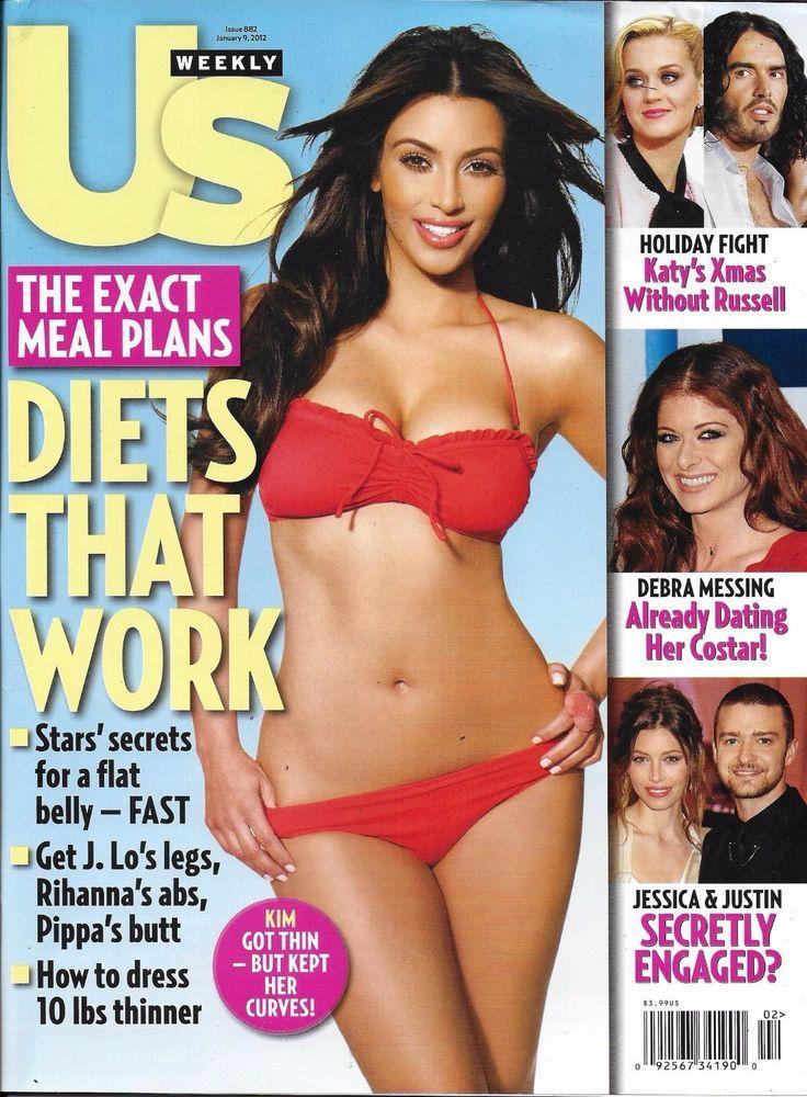 US Weekly magazine Kim Kardashian Diets Weight loss Ryan Reynolds Blake Lively