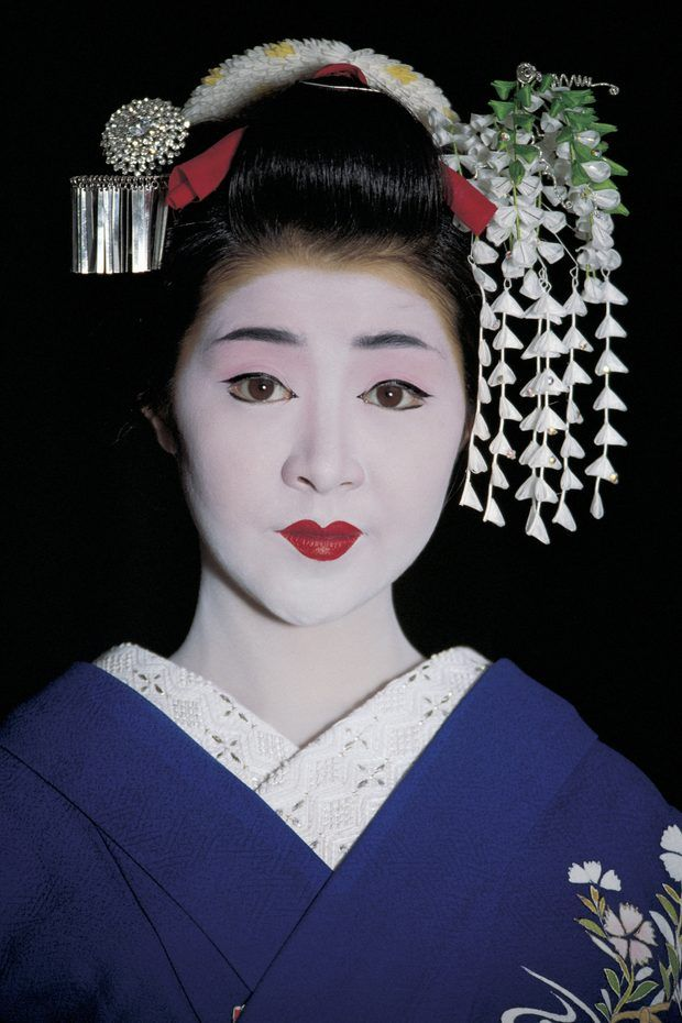 geisha disfraz maquillaje