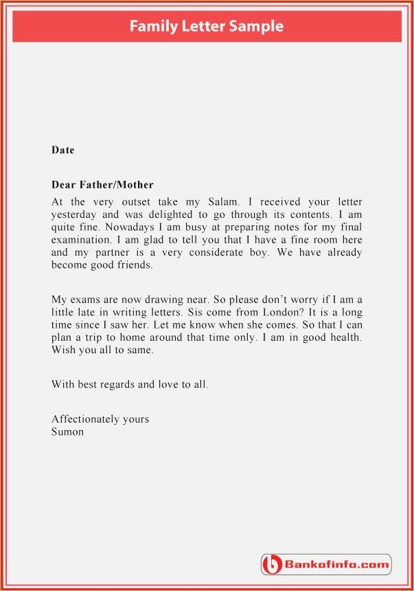 Family Letter Format Thepizzashop Co Letter To Judge Block