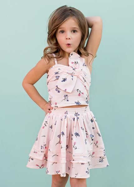 MELISSA BOW SET IN PINK FLORAL