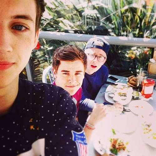 """Missing LA and these punks! @Connor Franta @Tyler Oakley"""