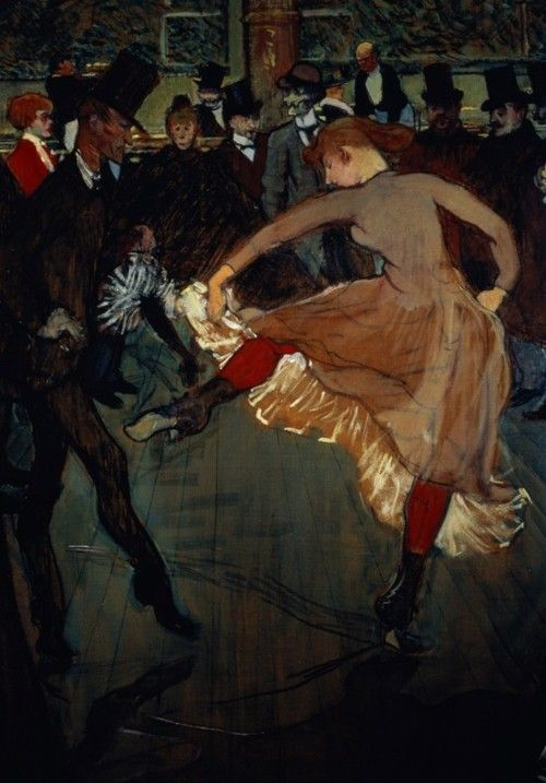 Henri de Toulouse-Lautrec : The Dance at the Moulin Rouge (detail showing Valentin Desosse), 1889