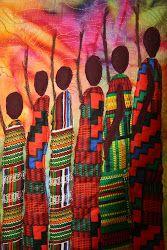 Massai representation on a beautiful quilt.