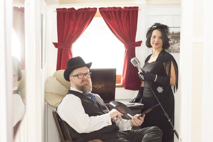 Singer Yanti and DJ Tim Tweed, get ready for the Great Gatsby Party at the SS Sicamous (2016).  Photos were taken by Callium Smith, a photographer based in Naramata BC