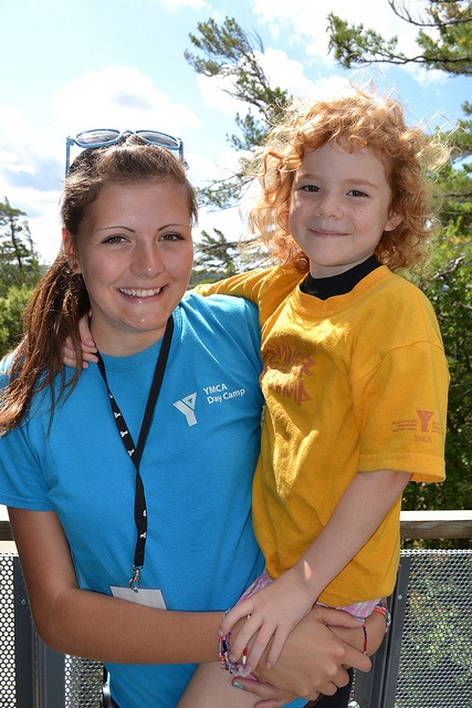 Getting a lift at YMCA Day Camp