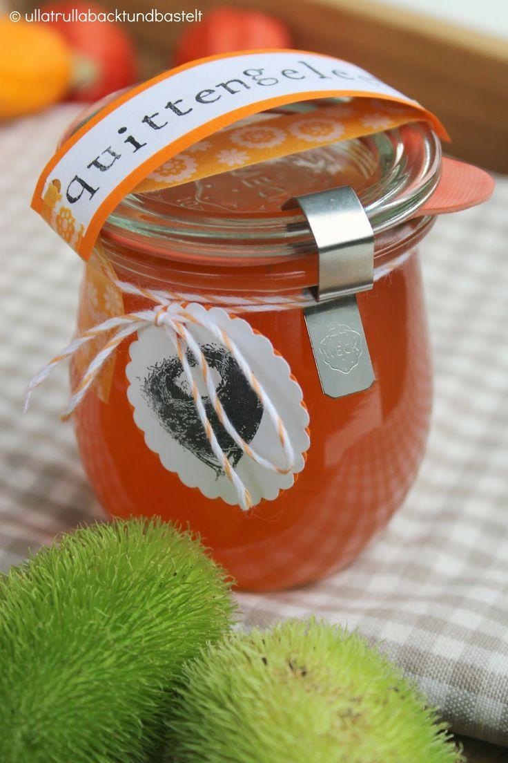 ullatrulla backt und bastelt: Marmelade wie von Oma | Rezept für Quittengelee