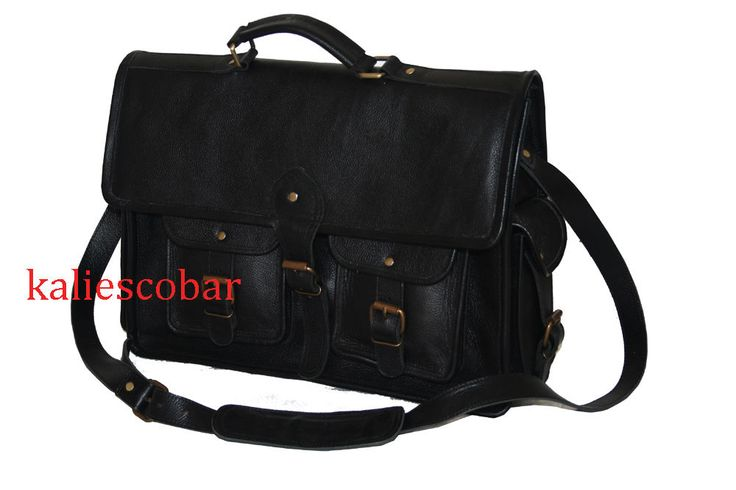 Mens Genuine Leather Satchel Messenger Man HandBag Laptop Briefcase CrossbodyBag #Handmade #MessengerShoulderBag