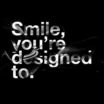 Smile...: White Mood, Thought, Quotable, Inspiration Quotes, Black