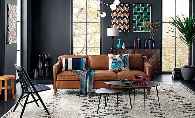 A Created Cozy Living Room West Elm Patterns