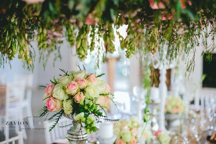 Beautiful wedding flowers and decor for this couple. Fresh, rich wedding flowers.Zavion Kotze Events Company -Weddings, Luxury Weddings, Bride to be, Wedding day, bride, wedding flowers, wedding hour, wedding season, decor, décor.