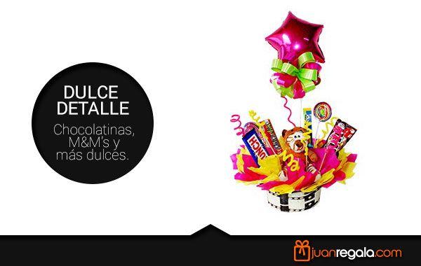 """Para sorprender a alguien en un día especial no hace falta gastar grandes cantidades de dinero, aquí tienes una excelente y creativa opción """"Dulce Detalle"""", perfecto para esa persona que le gustan los dulces y las chocolatinas. http://juanregala.com/-medellin-prod-1316"""