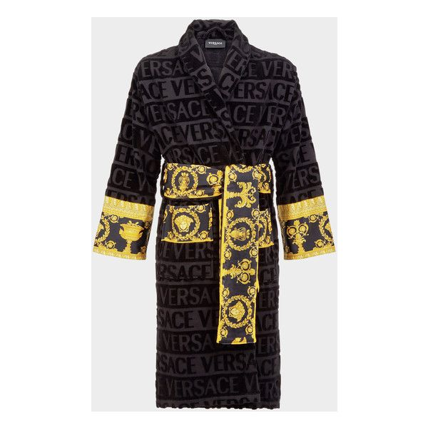 Versace Versace Bathrobe for Women | UK Online Store ❤ liked on Polyvore featuring intimates, robes, versace, wrap robe, bath robes, versace robe and versace bathrobe