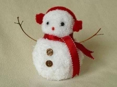 Галка-Игралка -  Снеговичок из помпонов легко и быстро. Это... | игрушки | Постила