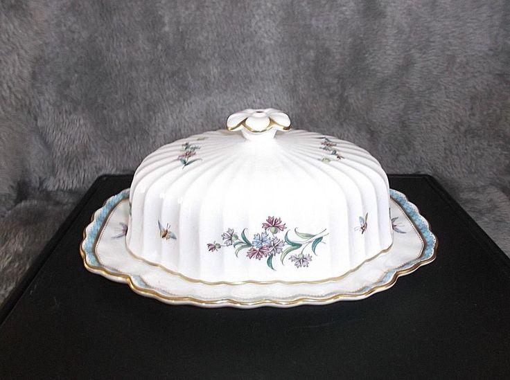 Spode TRAPNELL Fine Bone China 1/4 Lb Covered Butter Dish, England, F1427-J, EC #Spode #Victorian