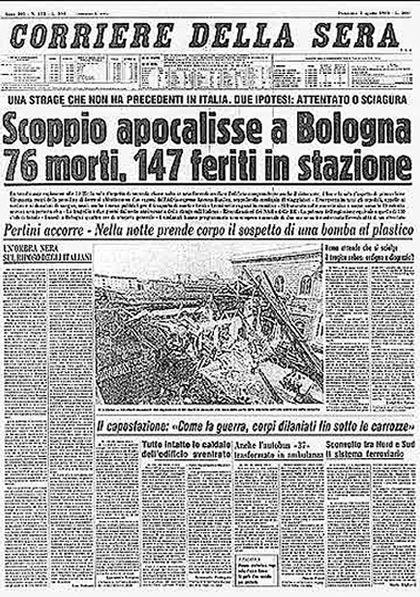 Strage di Bologna. 02 Agosto 1980 #TuscanyAgriturismoGiratola