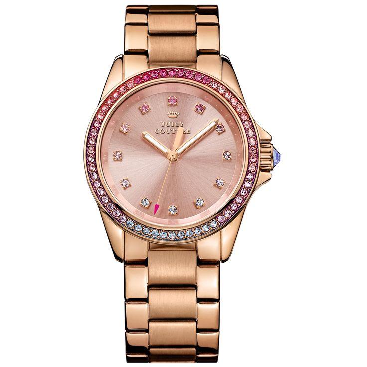 Relógio feminino Juicy Couture com pulseira em aço rosé. 1901207