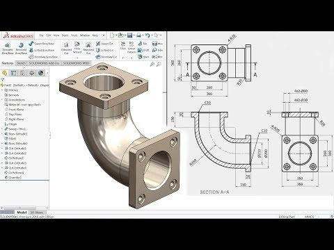 SolidWorks Tutorial for beginners Exercise 20 - YouTube
