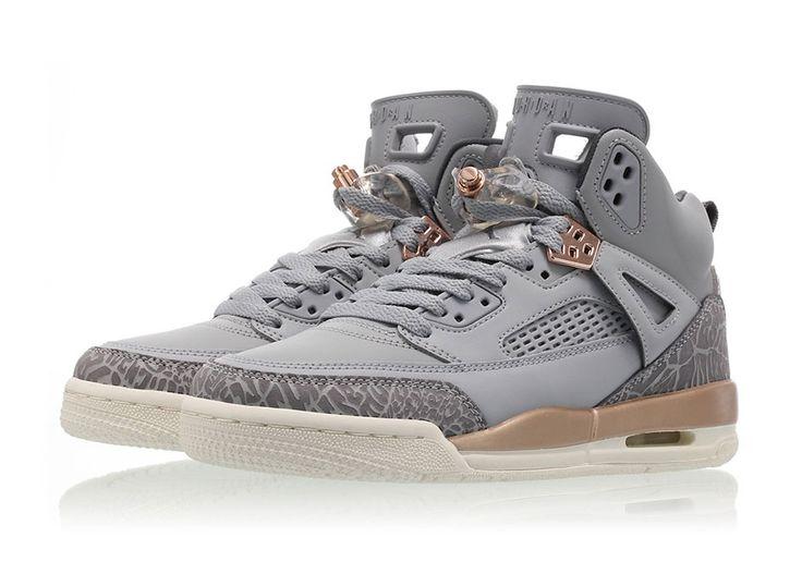 #sneakers #news  The Jordan Spiz'ike Releases In Wolf Grey And Metallic Bronze For Girls