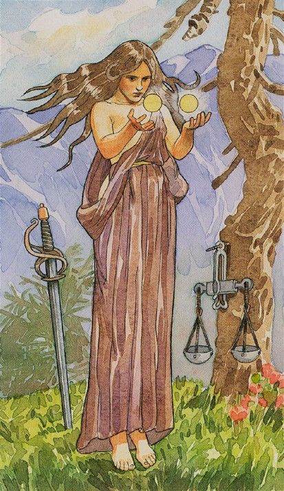 Justice - The Sorcerers Tarot - life gives you what you deserve. embrace your destiny and your calling.