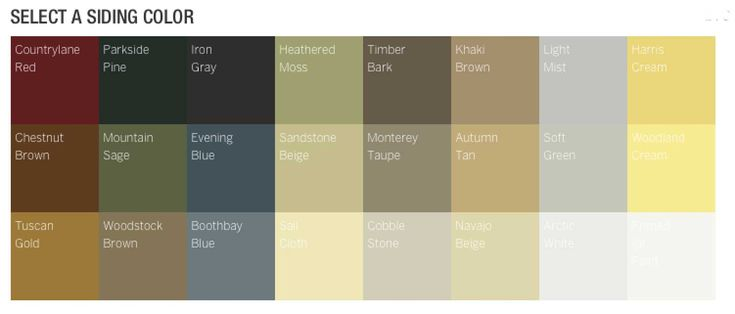 Hardie Siding Color Chart Hardi Siding Color Samples