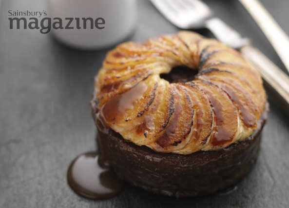 Tom Kerridge's sweet and sticky toffee puds from Sainsbury's magazine are a naughty finish to a special meal – enjoy them warm or hot, straight from the oven