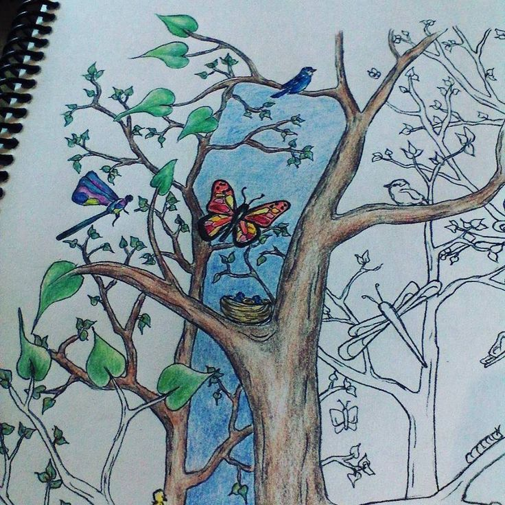 Coloring sample from Thoughts & Sketches: Gates & Gardens by LK Hunsaker