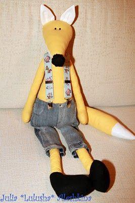 Aleshkina Julia. Handmade toys: Pup Witek