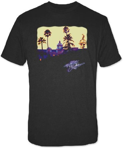 Eagles Classic Rock n Roll Band T-shirt - Hotel California Album Cover Artwork | Men's Black Shirt